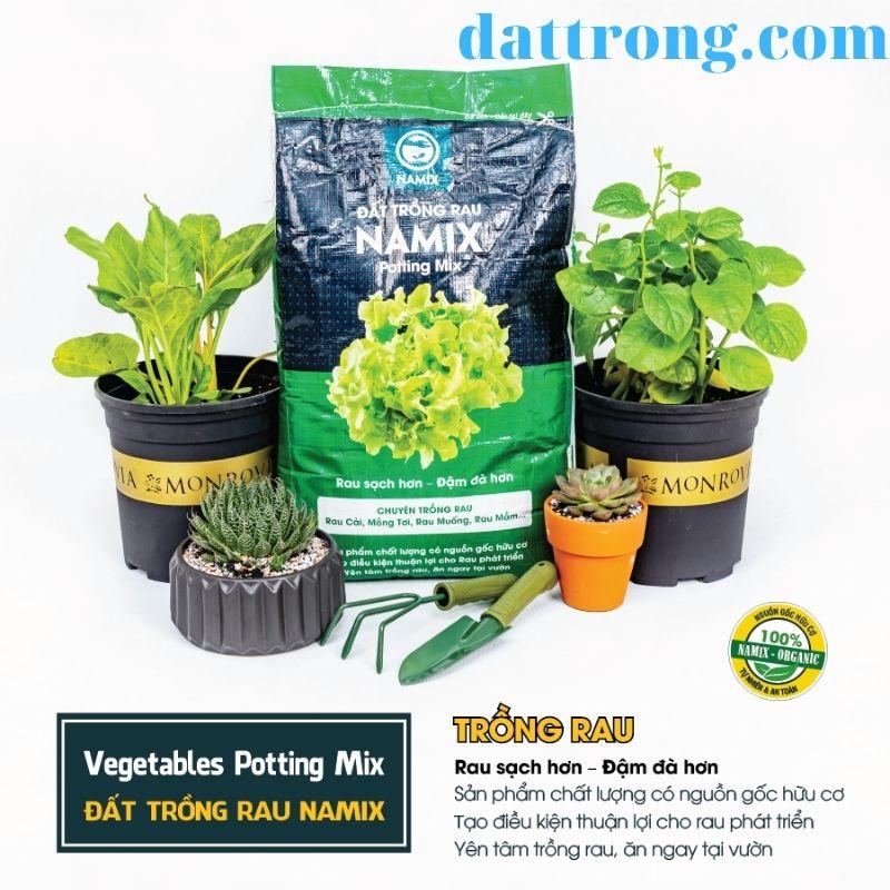 đất sạch trồng rau Namix